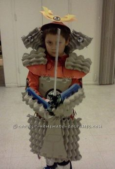 Cool Home Made Samurai Armor from Egg Crates... This website is the Pinterest of costumes:
