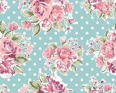 Wallpaper seamless vintage pink flower pattern on brown background ...