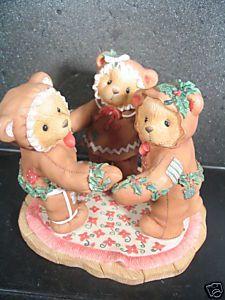 Cherished Teddies MISSY COOKIE & RILEY Gingerbread Bear