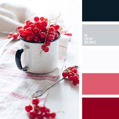 алый, бордовый, контрастный красный, палитра для Нового года, подбор цвета для дома, подбор цветового решения для нового года, розовато-бордовый, серебряный, серый, темно серый, цветовое решение для Нового года, черный.