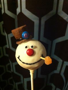 Frosty The Snowman cake pops I did for a friends Christmas in July party