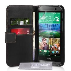 YouSave HTC One M8 Wallet Case - Black | Mobile Madhouse