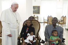 El Papa ha recibido a Meriam en Santa Marta