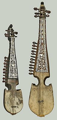 """Short-necked lute (""""robab""""), Afghanistan, 19th century (from the National Music Museum)"""