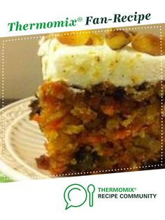 Moist Carrot Cake by pkwilly. A Thermomix ® recipe in the category Baking - swe. Carrot Cake Bread, Moist Carrot Cakes, Carrot Cake Muffins, Best Carrot Cake, Baking Recipes, Cake Recipes, Nutella Recipes, Clean Eating Snacks, Bakken