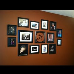 Family photo collage wall :-)