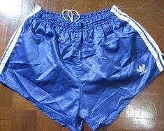 Vintage Clothing,Vintage Football Shirt,Soccer Jersey by PolyCottonVintage Plastic Girl, Plastic Pants, Adidas Retro, Pretty Shirts, Adidas Shorts, Vintage Shorts, Running Shorts, Adidas Originals, 1980s