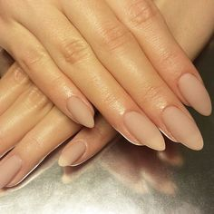almond matte nude nails | nail art ideas