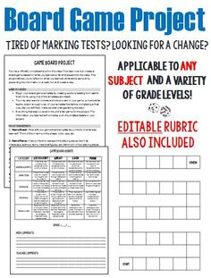 Tired of marking tests? Do your students need a break? If you are looking for an alternative test-taking assessment, check out this project!