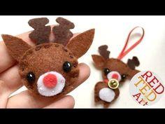 Felt Reindeer Ornament - Red Ted Art's Blog