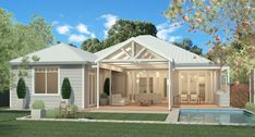 Hamptons inspired home with award winning Adelaide builders Scott Salisbury Homes Salisbury Homes, Fresco, Weatherboard House, Home Buying Tips, Home Reno, Inspired Homes, Along The Way, My Dream Home, Exterior Design