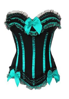 Regal Turquoise Corset « QueenChloset – The Corset House I have one like this in red...burlesque style corsets are my favorite!