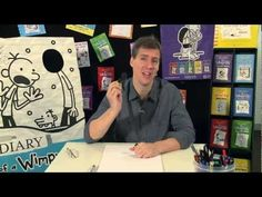 Jeff Kinney/Diary of a Wimpy Kid website. This is a video of Jeff Kinney's Cartoon Class - How to draw Greg Heffley. Library Lesson Plans, Library Lessons, Library Books, Kid Books, Jeff Kinney, Elementary Library, Elementary Schools, Library Inspiration, Library Ideas