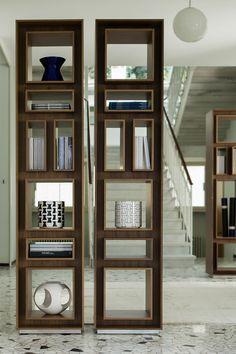 5 Trendy Modern Bookshelves That Unleash Warmth Of Wood! on Home Shelves Ideas 2872 Modern Bookshelf, Bookshelf Design, Bookcase Shelves, Shelving, Bookcases, Industrial Design Furniture, Furniture Design, Room Partition Designs, Cabinet Furniture