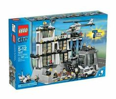 Lego City Police Station by LEGO. $449.99. Features control tower, jail, and heliport. Recommended for kids 5 to 12 years old. 597-piece set includes helicopter, motorcycle, van, 5 officers, 2 police dogs, and 2 robbers. National Parenting Center's Seal of Approval. Lego city police station teaches creative building skills. Amazon.com                  .caption { font-family: Verdana, Helvetica neue, Arial, serif; font-size: 10px; font-weight: bold; font-style: itali...