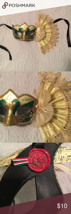 *HALLOWEEN SPECIAL!* Handmade masquerade mask This beautiful masquerade mask is the perfect centerpiece for a classy and sophisticated Halloween costume or decoration piece for your home! Hand painted in Italy (wax stamped on back) for Pier 1 Imports! Bought and never used. Accessories