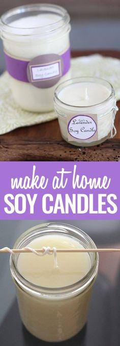 The best DIY projects & DIY ideas and tutorials: sewing, paper craft, DIY. Diy Candles Ideas & Wax melts DIY Soy Candles- Super Easy and Crafty -Read Candle Making At Home, Candle Making Business, Soy Candle Making, Making Candles, Candle Wax, Soy Wax Candles, Scented Candles, Yankee Candles, Candle Gifts