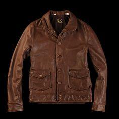 Levi's Vintage Clothing Menlo Jacket in Dark Brown Americana Vintage, Vintage Levis, Vintage Leather, Vintage Cars, Men's Leather Jacket, Vest Jacket, Leather Jackets, Skinny Fashion, Vintage Outfits
