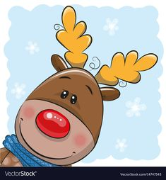 Illustration about Greeting Christmas card Cute Cartoon deer and Santa. Illustration of antler, happiness, claus - 81668571 Christmas Cards Handmade Kids, Christmas Decoupage, Christmas Doodles, Watercolor Christmas Cards, Christmas Drawing, Christmas Paintings, Christmas Rock, Christmas Deer, Christmas Clipart