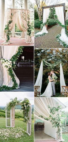 2017 Spring and Summer Wedding Arch Ideas with Greenery