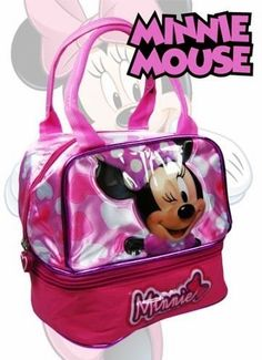 Deluxe Official Disney Minnie Mouse Multi Purpose Handbags with Lunch Pocket