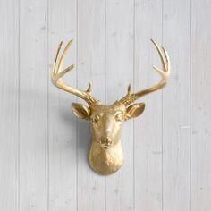 Cervo d'oro Mini da parete incantatori ™  testa di WallCharmers