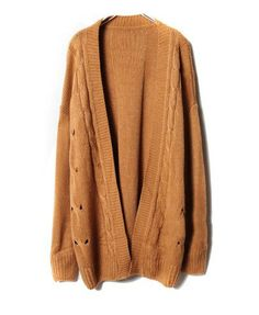 Pure Color Open Front Cardigan - Cardigans - Knitwear - Clothing ...
