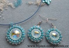 Rivolky obšité korálky eMMA - návod zdarma (free tutorial) Beadwork, Beading, Bead Weaving, Bricks, Seed Beads, 3 D, Free Pattern, Jewlery, Crochet Earrings