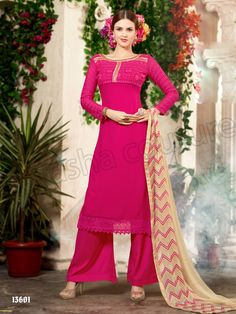 #Designer Stright Suits#Pakistani Suit#Indian Wear#Pink#Desi Fashion #Natasha Couture#Indian Ethnic Wear# Salwar Kameez#Indian Suit#Pakastani Suits# Palazoo