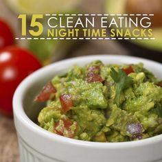 Stop overindulging at night - opt for these 15 Clean-Eating Late Night Snacks instead! #latenightsnacks #nighttimesnacks