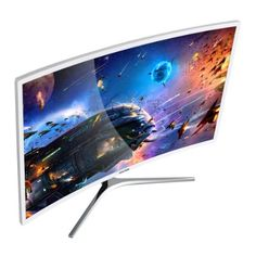 Amazon.com: Viotek 32 inch LED Curved Computer Monitor with Speakers - 1920x1080p Full HD, VGA DVI and HDMI, 1800R Curvature, Model NB32C: Computers & Accessories