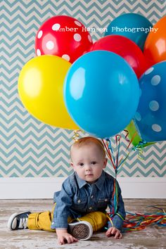 baby's first birthday photo....another cute idea