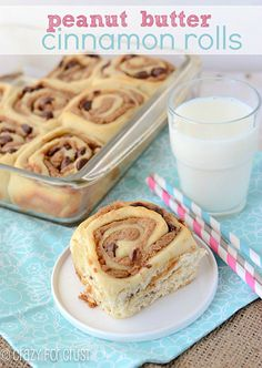 Peanut Butter Cinnamon Rolls.im sure mu hubbs would enjoy.