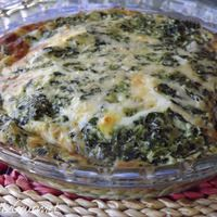 No Crust! - Quick and Easy Spinach Quiche. Breakfast or light dinner