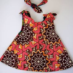 64da1eb817d This cute knot dress and matching headband are reversible so you get two  outfits for the… African ChildrenKnot DressKids PrintsAfrican ...