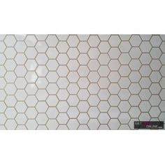 White Gloss Hexagon Mosaic 51x59 (Code:00871)