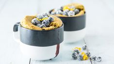 One cup wonder. Your new muffin recipe comes in a mug and is made to order as a single serve blueberry lemon mug cake. Pear And Almond Cake, Pear Cake, Hazelnut Cake, Almond Cakes, Lemon Blueberry Muffins, Blue Berry Muffins, Shakeology Mug Cake, Mugcake Recipe, Lemon Mug Cake