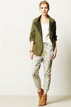 #Floral #Terry #Pants via #Anthropologie