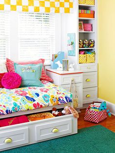 like the night stand and tower storage next to day bed