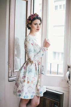 invitada boda blog vestido raquel ferrero le touquet corona flores Cute Skirt Outfits, Pretty Outfits, Pretty Dresses, Beautiful Dresses, Day Party Outfits, Party Fashion, Fashion Outfits, Stylish Outfits, Wedding Guest Style