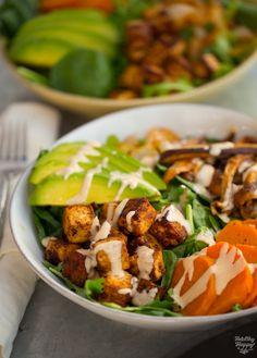 #Vegan Chipotle-Maple Sweet Potato Tofu Bowl