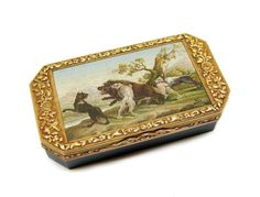Early 19th century micromosaic and gold mounted bloodstone box, the mosaic, Rome c.1810, the box probably Vienna c.1820,