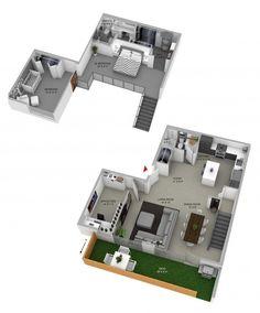 Inspiração: Loft Duplex em Vancouver - http://comosefaz.eu/inspiracao-loft-duplex-em-vancouver/