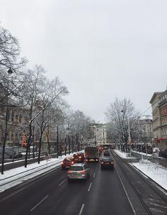Vienna in the Snow. Vsco, Public Transport, Vienna, Travel Photography, Around The Worlds, Street View, Adventure, Architecture, Wallpaper
