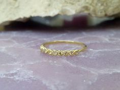 SALE Citrine RingSlim Stack RingTiny Stones by CandySimpleJewelry