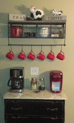 Coffee and Tea Station. I would have one of these in my dream house.