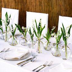 pinterest white table settings | Green White Table Setting4