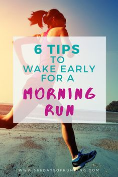 6 tips to wake early for a morning run Rise and shine and run at sunrise with these handy running tips. Become a morning runner and start the day feeling accomplished Running Training Programs, Race Training, Marathon Training, Triathlon Training, Training Equipment, Running Routine, Running Workouts, Running Tips, Running Humor