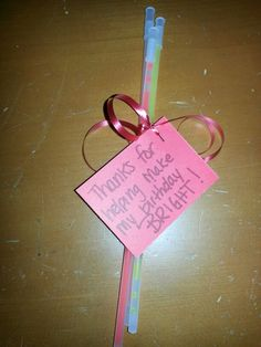 For this classrooms with non-edible birthday treat requirements..glow sticks