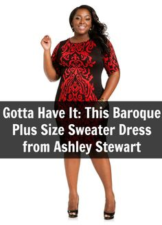fa154a5353d Gotta Have It  This Baroque Plus Size Sweater Dress from Ashley Stewart